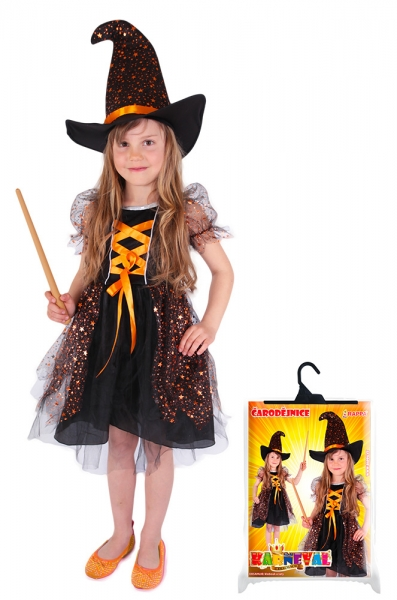 Rappa Karnevalový kostým čarodejnice / Halloween hviezdička, veľ. L