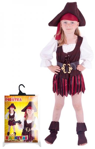 Karnevalový kostým pirátky, klobúk, topánky, veľ. S