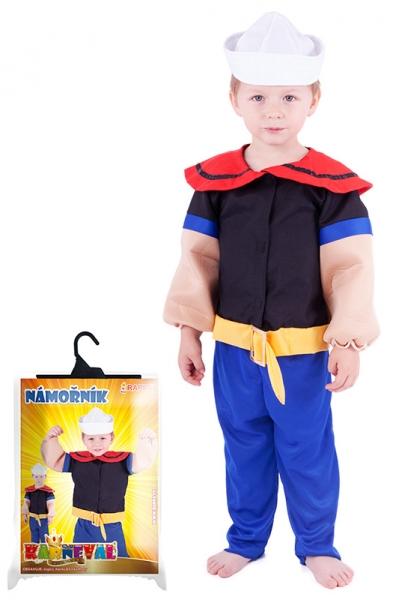 Karnevalový kostým námorník Pepa, veľ. XS