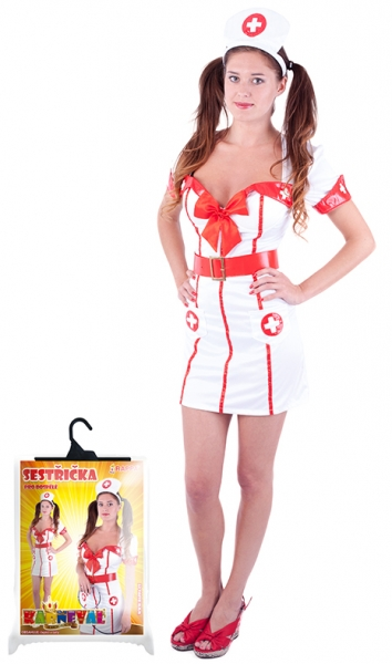Rappa Karnevalový kostým slečna zdravotníčky, dosp., Vel. M