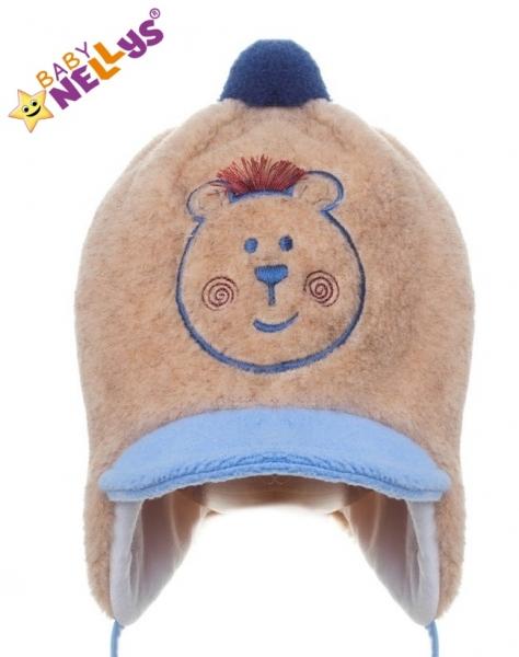Zimná čiapočka Medvedík hnedý s brmbolcom