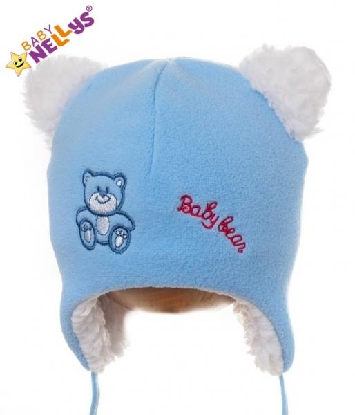 Zimná čiapočka Medvedík Baby Bear - sv modrá
