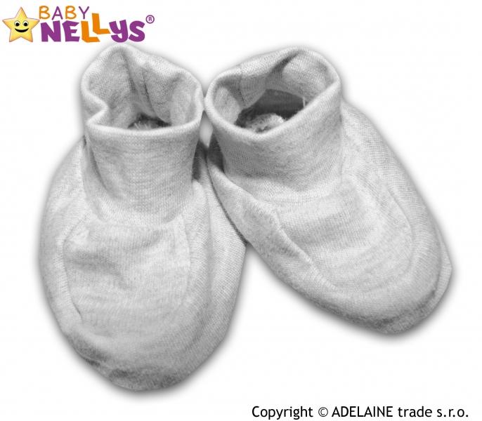 Topánočky / ponožtičky Baby Nellys ® - šedé (melírek)