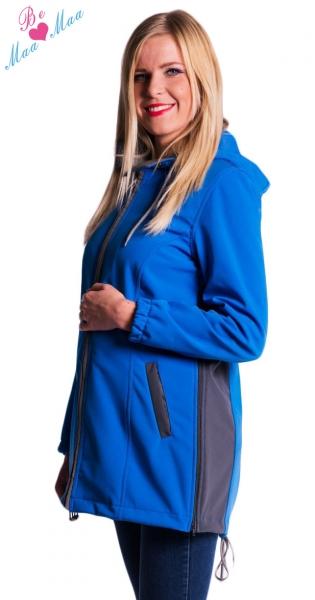 Be MaaMaa Tehotenská softshellová bunda, kabátik - modrá