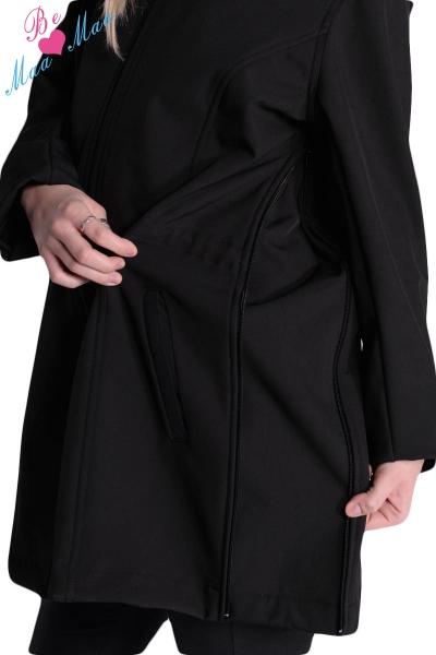 Tehotenská softshellová bunda, kabátik - sivá / grafit