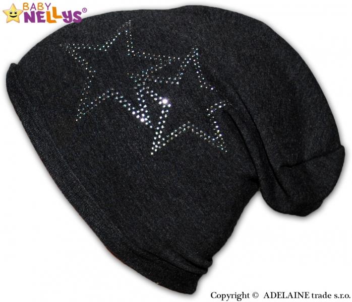 Bavlnená čiapočka Baby Nellys ® - Hviezdy, veľ. 48-54 cm