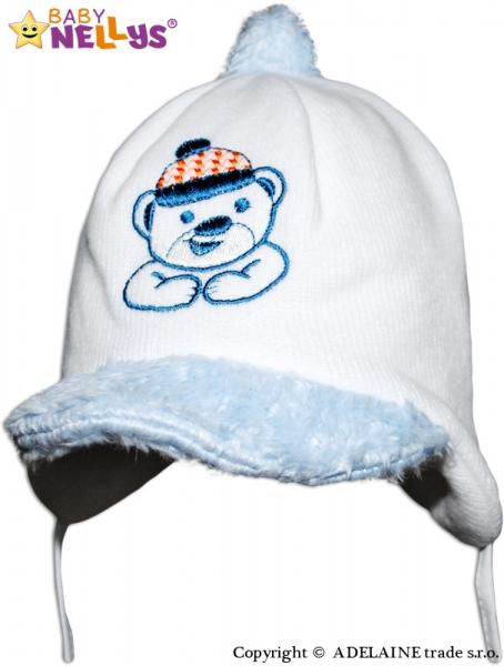 Zimná čiapočka Medvedík s čiapočkou - biela