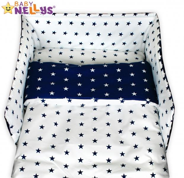 Mantinel s obliečkami - Hviezdy granát / hviezdičky biele
