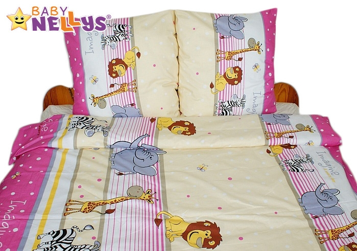 Bavlnené obliečky 140x200 - Saraf v ružovej-140x200/70x90cm