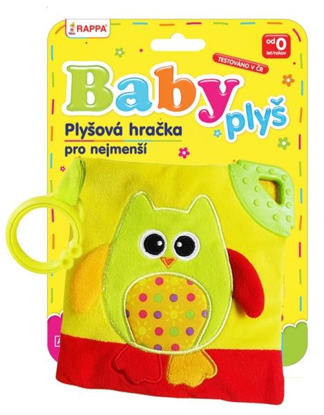 Kniha plyšová baby sova s