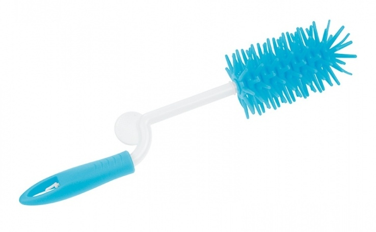 Kefa na umývanie fľaštičiek - rotačné - modrý