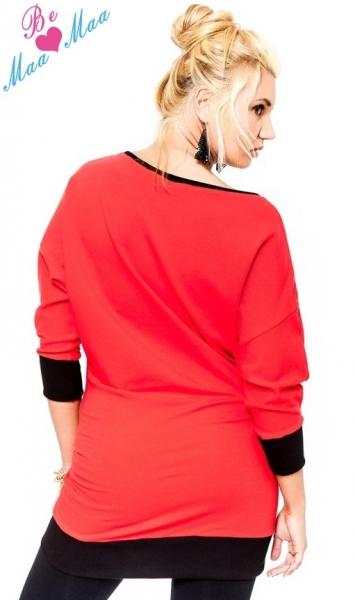 Tehotenská mikina MIA - červená