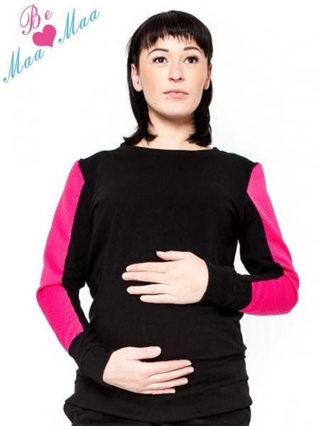 Tehotenské mikina, tričko dl. rukáv Ammy-S/M