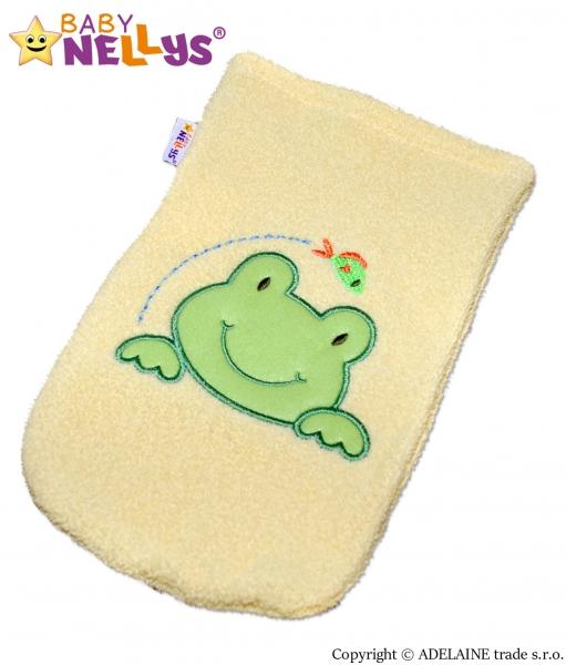 Žinka froté s výšivkou Žabka Baby Nellys ® - žltá