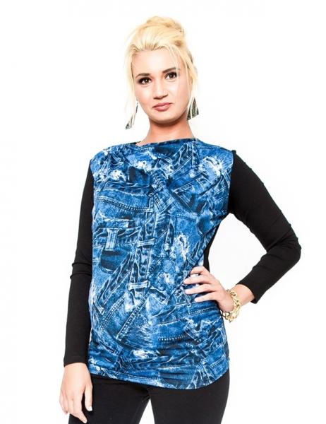 Tehotenské tričko / blúzka Be Maamaa - ZINA-L/XL