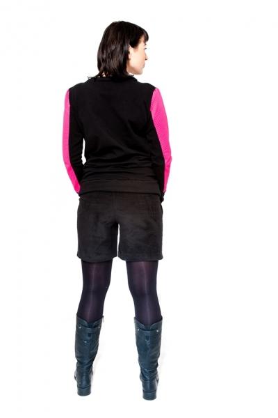 Tehotenské menžestrové kraťasy Be MaaMaa - DINA čierne