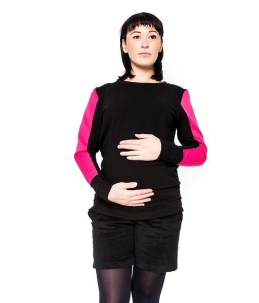Tehotenské menčestrové kraťasky Be Maamaa - DINA čierne