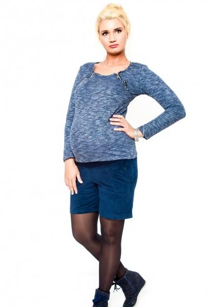 Tehotenské menžestrové kraťasy Be MaaMaa - DINA granát
