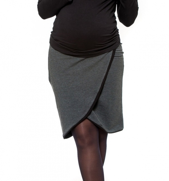 Tehotenská sukňa Be Maamaa - KALIA grafit