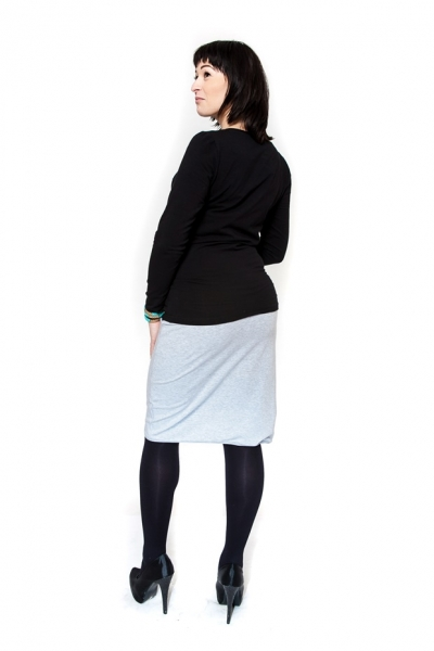 Tehotenská sukňa KALIA sv. šedá