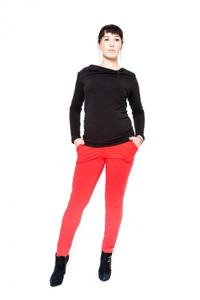 Tehotenské nohavice  Be MaaMaa - KALI červené veľ.S