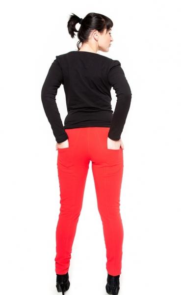 Tehotenské nohavice Be Maamaa - KALI červené