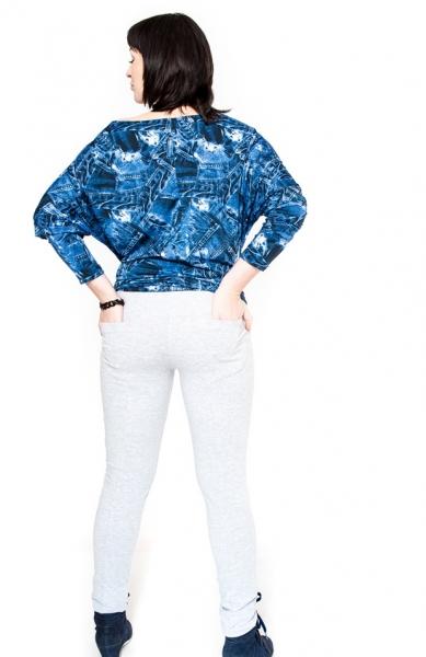 Tehotenské nohavice  Be MaaMaa - KALI sv. šedé
