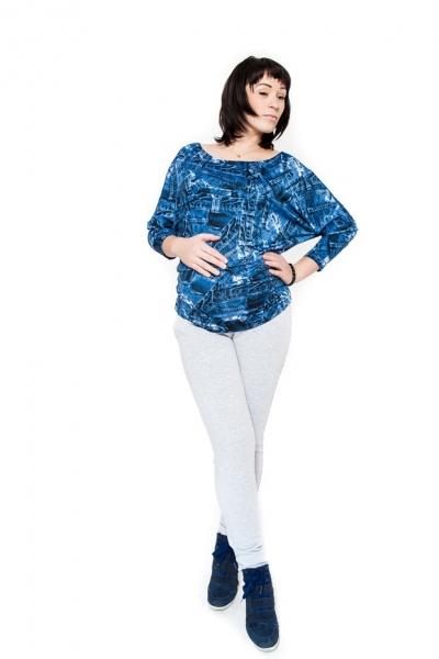 Tehotenské nohavice Be Maamaa - KALI sv. šedé, XL