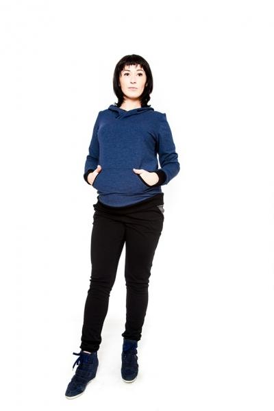 Tehotenské nohavice Be Maamaa - NINA čierna, S