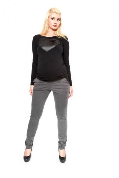 Tehotenské nohavice  Be MaaMaa - NINA šedá