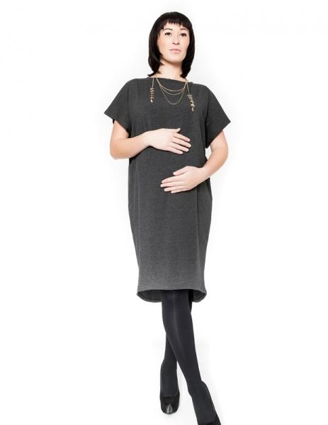 Tehotenské šaty BELLA - grafit
