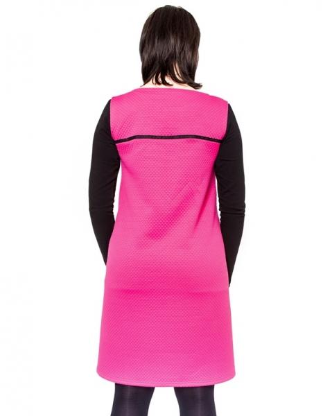 Tehotenské šaty DIOR - amarant