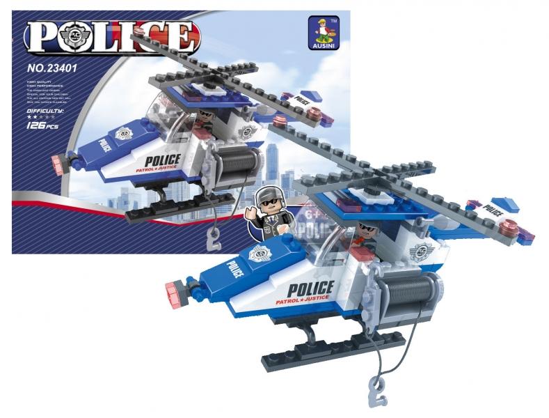 Stavebnica Ausin policajný vrtuľník 126 dielov