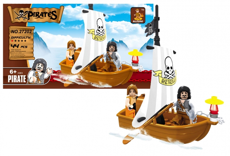 Stavebnica Ausin piráti loď pirátska 44 dielov