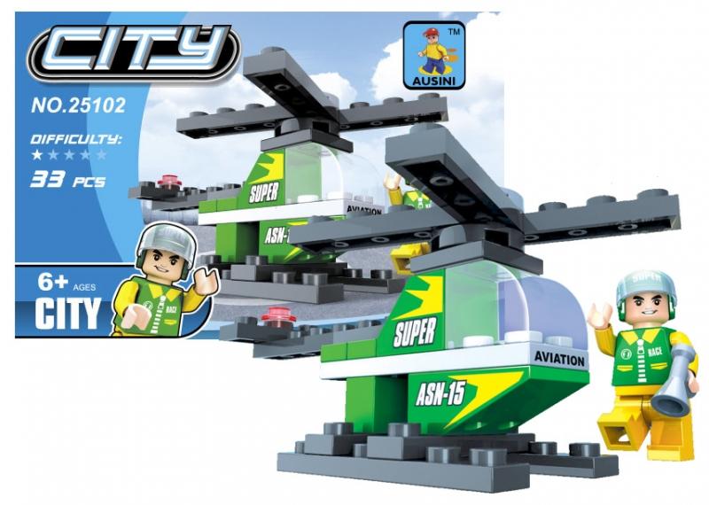 Stavebnica Ausin mesto vrtuľník 33 dielov