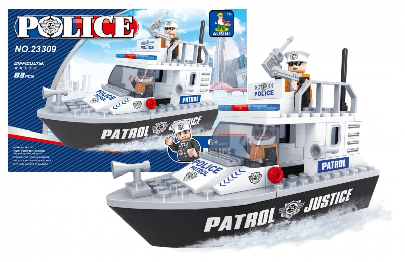 Stavebnica Ausin policajný loď 83 dielov
