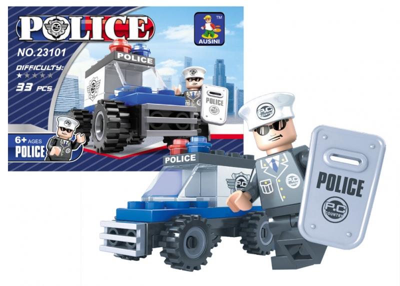 Stavebnica Ausin policajné auto 33 dielov