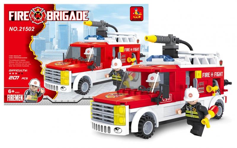 Stavebnica Ausin hasiči dodávka 207 dielov