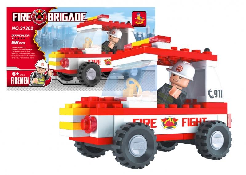 Stavebnica Ausin hasiči auto 58 dielov
