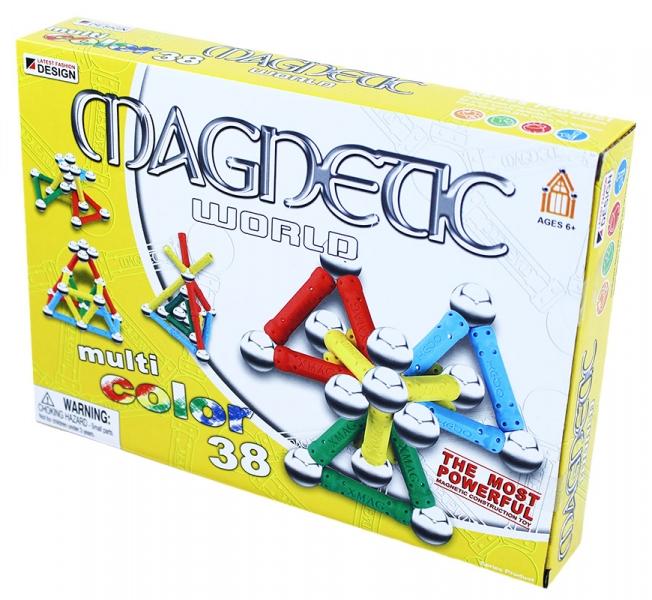 Rappa Stavebnica magnetická 3D, 38 dielov