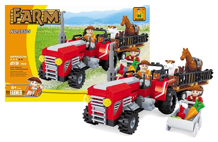 Stavebnica Ausin farma traktor veľký, 215 dielov