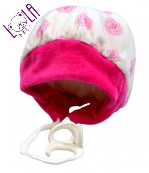 Krásna zimná čiapočka - LALA malina