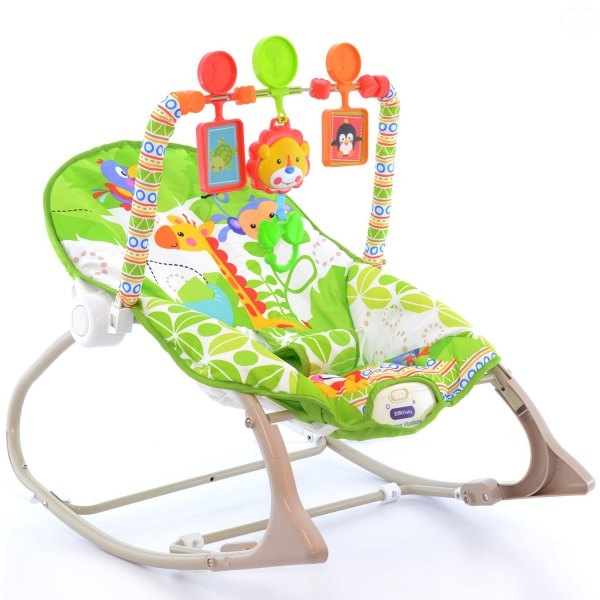 Lehátko, hojdačka pre dojčatá s vibrácií a hudbou - Žirafa