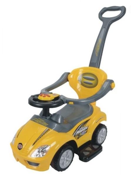 Euro Baby Odrážadlo, odrážadlo 3v1 AUTO - žlté