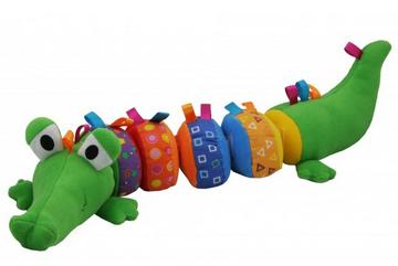 Edukačný plyšový krokodíl BABY MIX