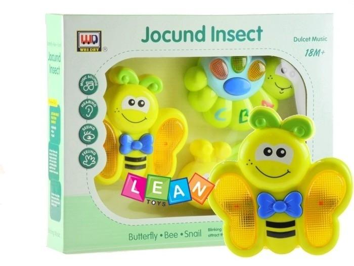 Interaktívne hudobné sada hračiek - Včielka, húsenica a motýlik