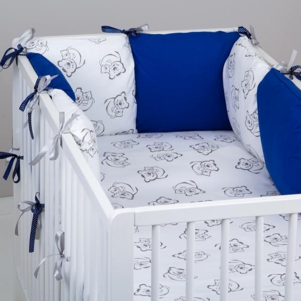 Baby Nellys Vankúšikový mantinel 6 kusov vankúšika - vzor 345116, 40 x 40 cm