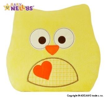 Vankúšik Baby Nellys ® sovička - žltá