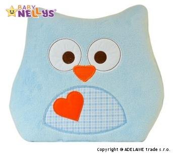 Vankúšik Baby Nellys ® sovička - sv.modrá