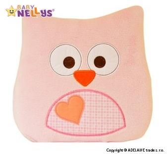 Vankúšik Baby Nellys ® sovička - sv.růžová